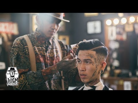 High Skin Fade and Pompadour | Liem Barber Shop's Collection