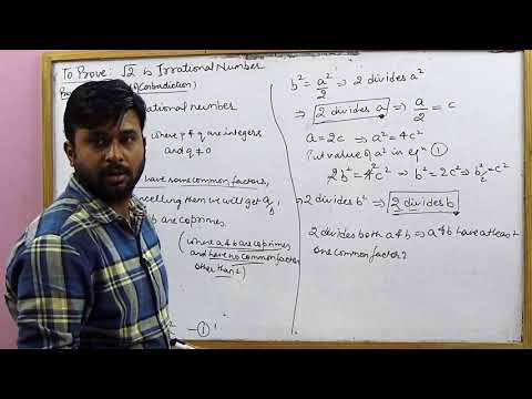Irrationality of the square root of 2 | CBSE 10 Math's NCERT Ex 1.3 Intro (Part 2)