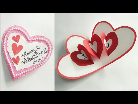 DIY Heart Shape Pop Up Valentine Card/ How to make a Heart Shape Pop Up Card/Valentine Card Ideas