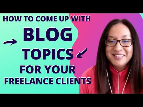 Find Blog Post Topics Quickly for Freelance Writing Jobs