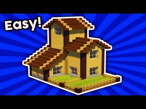 Minecraft : Easy Survival Base Tutorial For Survival [#1] |(PC/XboxOne/PS4/PE/Xbox360/PS3)