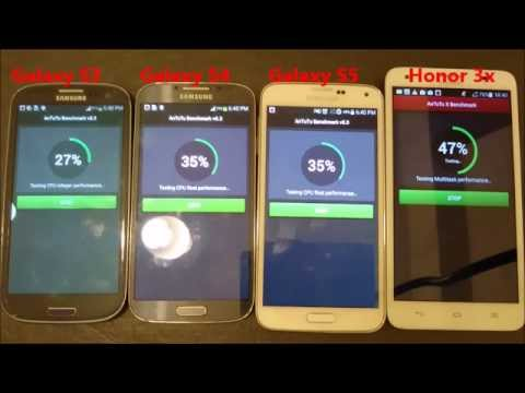 Huawei Honor 3x vs Galaxy S3 vs S4 vs S5:  Geekbench Benchmark Performance Tes