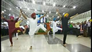 BHANGRA Dance At Kolkata Airport! || Surprise ||