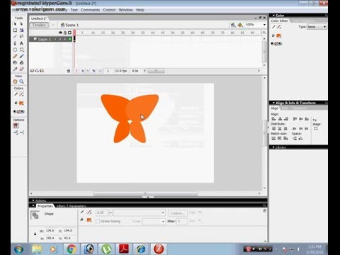How to make flying Butterfly in Flash 8