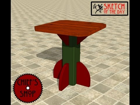 Chief's Shop Sketch of the Day: Pedestal Table