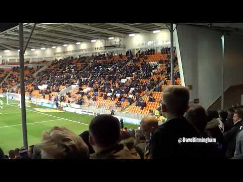 Birmingham fans throw smoke bombs on the pitch (at Blackpool)
