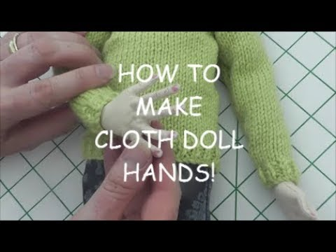 HOW TO MAKE CLOTH DOLL HANDS! SkerCraft Dolls