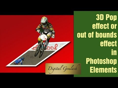 Learn Photoshop Elements - Make a person pop out of a picture in 3D the Easiest way