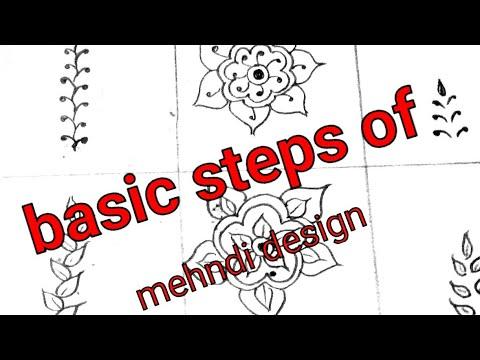 Learn basic steps of mehndi design class -1 for beginners tutorial