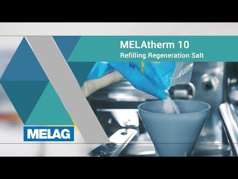 Filling regenerating salt (W428 / F505) | MELAG MELAtherm 10 Tutorial