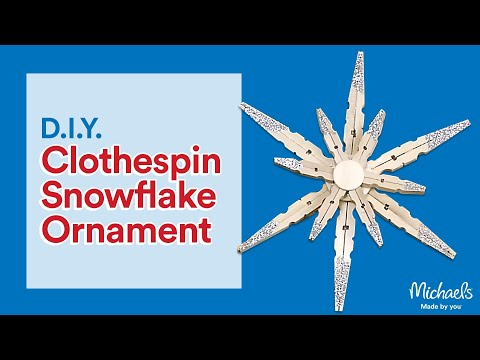 Clothespin Snowflake Ornament | Michaels