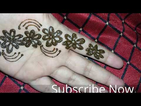 Simple flower mehandi Design For hands||  Floral Heena on hand Easy and sweet art creation