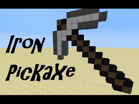Minecraft Iron Pickaxe-Building Tutorial