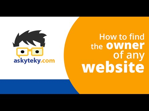 How to find the owner of any website