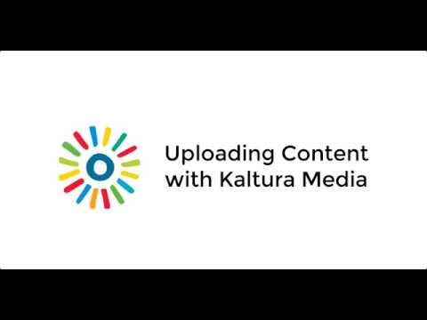 Upload Content to Blackboard with Kaltura Media