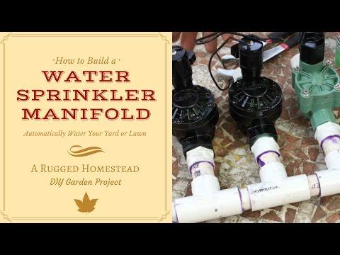 DIY Automatic Water Sprinkler Manifold
