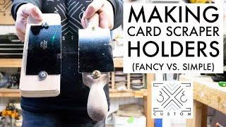 Making 2 Different Card Scraper Holders - Which One Works Best???