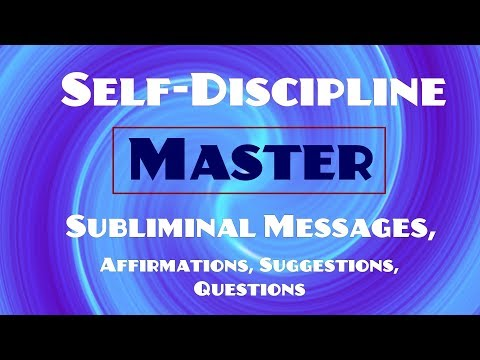 Become More Disciplined - Master Self Control - Subliminal Affirmations (Listen for 21 Days!)