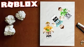 PLAYING ROBLOX ON A PIECE OF PAPER!