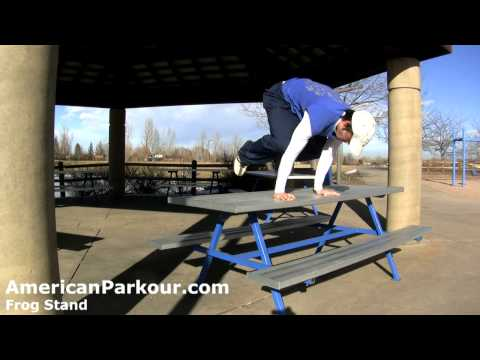 Frog Stand - Parkour Training and Conditioning Exercise