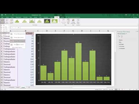 Creating a Histogram in Microsoft Excel 2016
