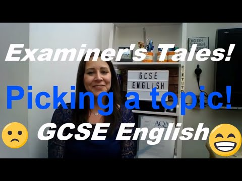 Examiner's Tales: Picking appropriate subject matter for GCSE creative writing!