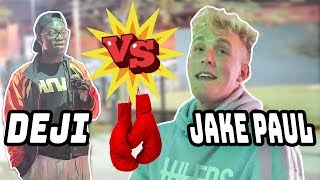 Reacting to Jake Paul Fighting Deji (KSI little brother) They Met at the Park!
