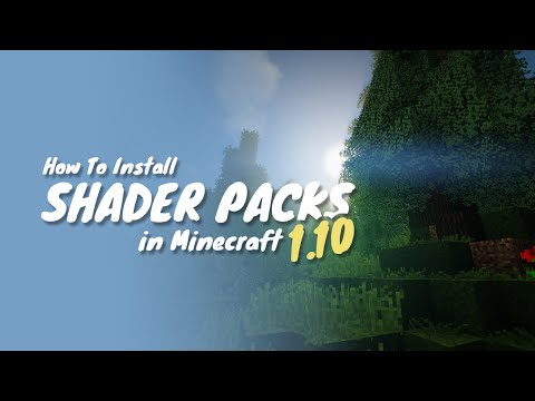 How To Install Shader Packs for Minecraft 1.12 (Minecraft Shader Packs 1.11) - Tutorial