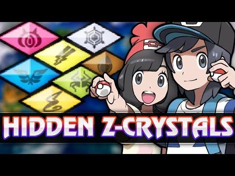 Pokemon Sun and Moon - All Hidden Z-Crystal locations (Eevium Z,Icium Z,Psychium Z etc.)