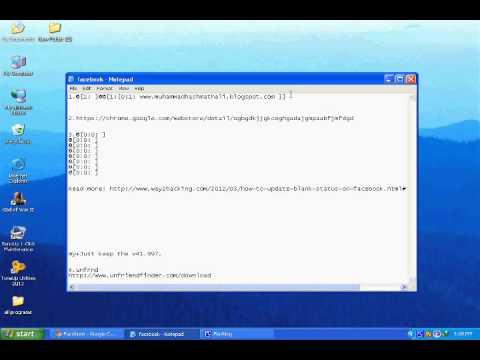 change facebook text in blue colour(urdu tutorial).wmv
