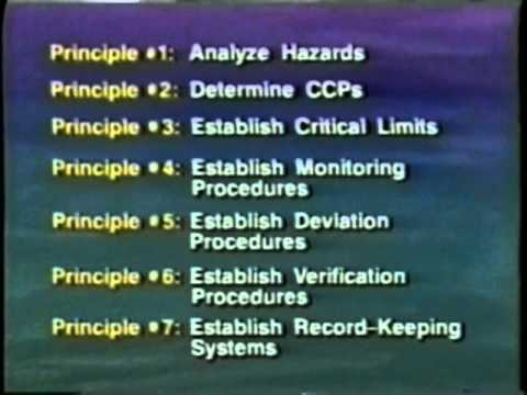HACCP: The Hazard Analysis and Critical Control Point System