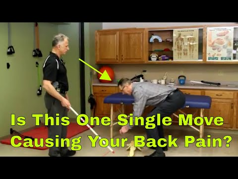 Is This One Single Move Causing Your Back Pain? How to test
