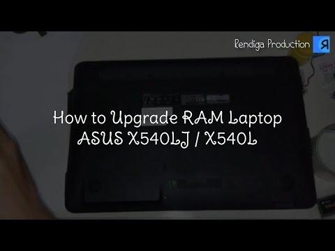 ASUS X540LJ disassembling and RAM upgrade