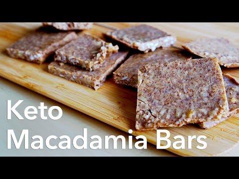 Coconut macadamia bars - low carb keto vegan dessert recipe