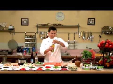 Preparing a Baby Spinach Salad