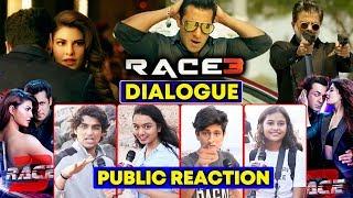 RACE 3 के Dialogues का PUBLIC CRAZE | Salman Khan | RACE 3 PUBLIC REACTION