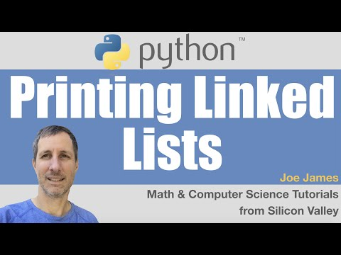 Python: Printing a Linked List