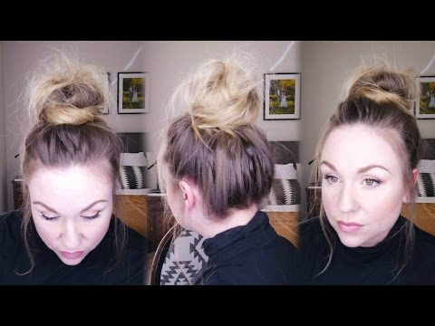 TOP KNOT TUTORIAL | MESSY BUN FOR FINE HAIR | UPDATED