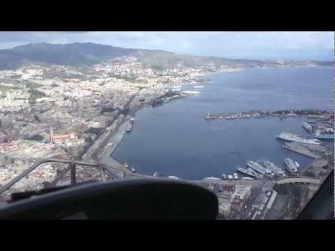 Helicopter from Reggio Calabria, Italy to Messina, Sicily