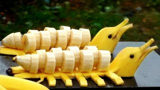How to Make Banana Decoration | Banana Art | Fruit Carving Banana Garnishes