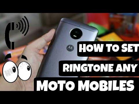 HOW TO SET CUSTOM RINGTONE ON MOTO || HOW SET RINGTONE IN MOTO