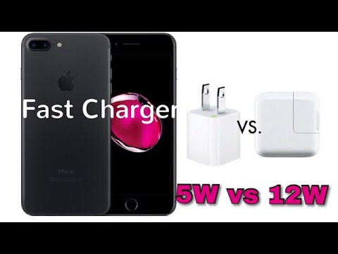 iPhone 7 plus Fast Charging | 12W vs 5W Adopter | 2017