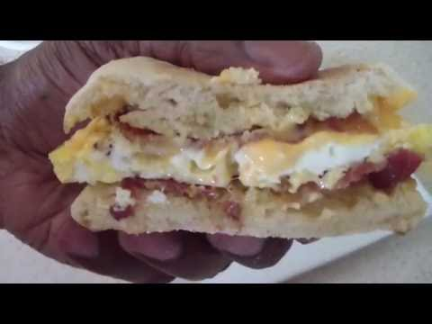 McDonald's style bacon egg & cheese Egg McMuffin Recipe Homemade DIY Breakfast using Dash Egg Cooker