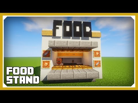 Minecraft: How To Build A Fast Food Stand Tutorial (Easy Survival Minecraft Design)