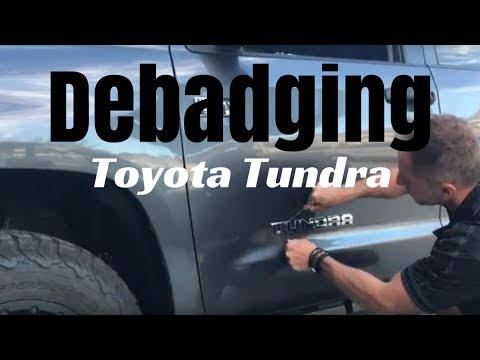 Debadging: Toyota Tundra by Auto Fetish Detail