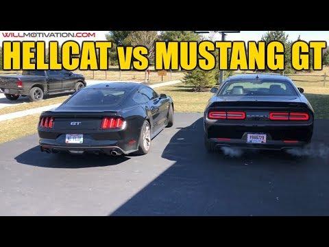 Challenger Hellcat vs Mustang GT Cold Start Battle + Real Estate Investment Tips