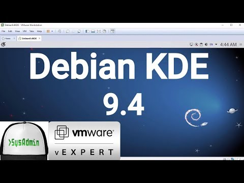 How to Install Debian 9.4 KDE + VMware Tools + Review on VMware Workstation [2018]