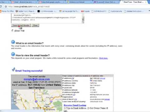 How to trace email sender's location?