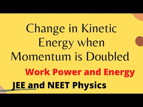 Percentage change in Kinetic Energy when Momentum is Doubled Problem