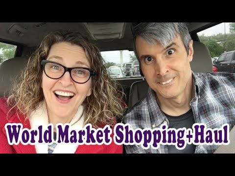 World Market Shopping Haul w Hubby